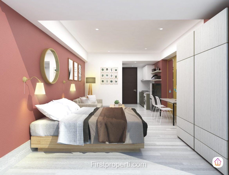 apartemen west vista fully furnished modern classic 1 br