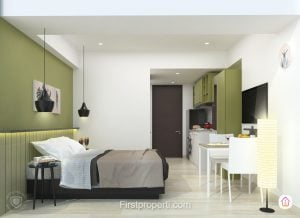 Studio Unit 1 apartemen west vista