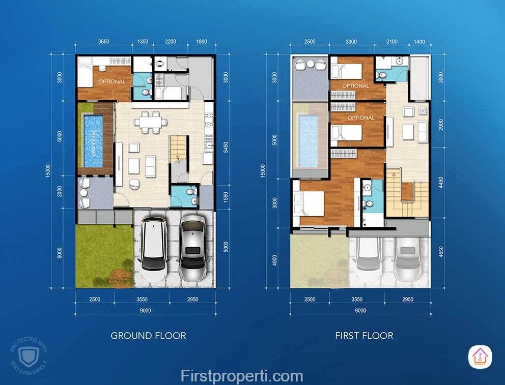 cluster amata tipe 156 floor plan denah