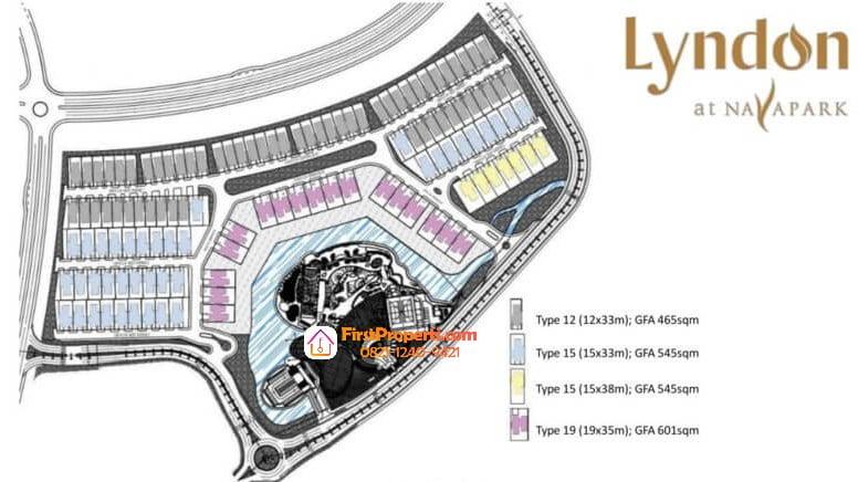 Siteplan Lyndon Navapark