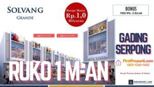 Ruko Solvang Grande Gading Serpong Siteplan